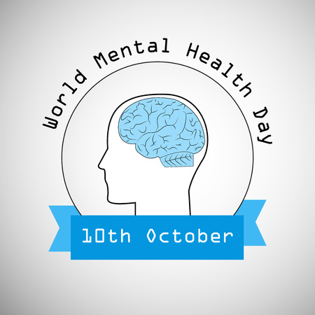 Illustration of elements of World Mental Health Day.