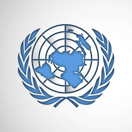 city background: illustration of elements of United Nations Day Background