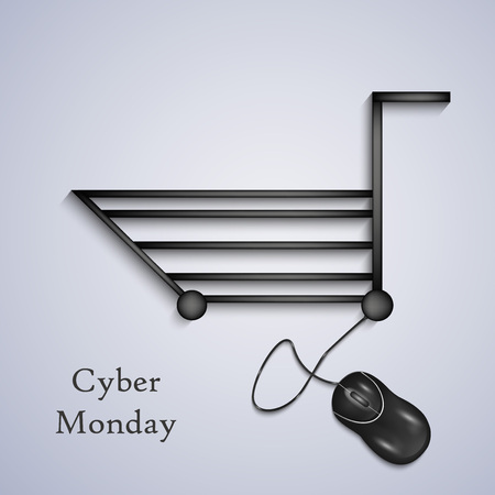illustration of elements of Cyber Monday background