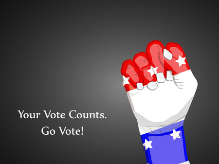 Illustration of elements of election day background. Your vote counts