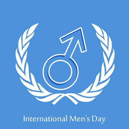 Illustration of elements of International mens day background. Illustration