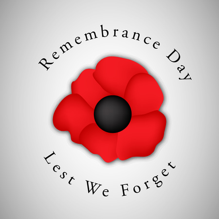 illustration of elements of Remembrance Day background