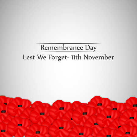 Illustration of elements of Remembrance Day background Ilustração