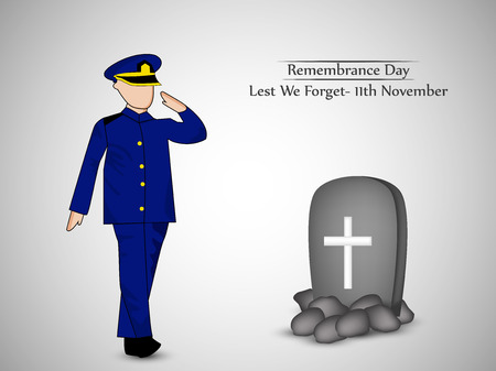 Illustration of elements of Remembrance Day background Illustration