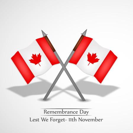 Illustration of elements of Remembrance Day background Illustration