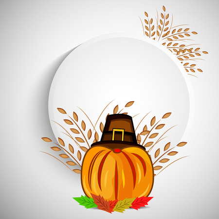 illustration of elements of thanksgiving background