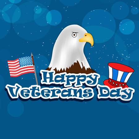 illustration of elements of Veterans Day background