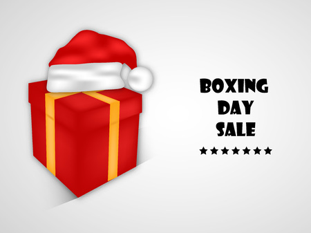 illustration of elements of Boxing Day Background