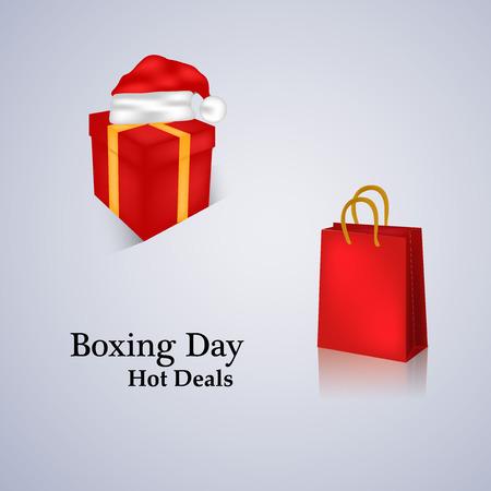 Boxing day card design. Illustration