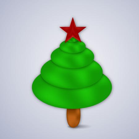 december 25: Christmas greeting card design. Illustration