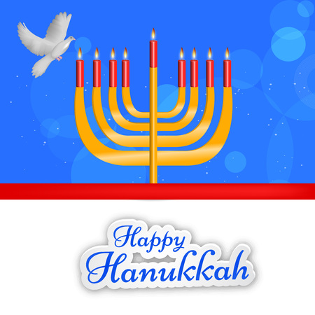 chanukkah: Happy Hanukkah greeting card design.