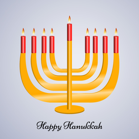 Hanukkah holiday greeting card design. Illustration