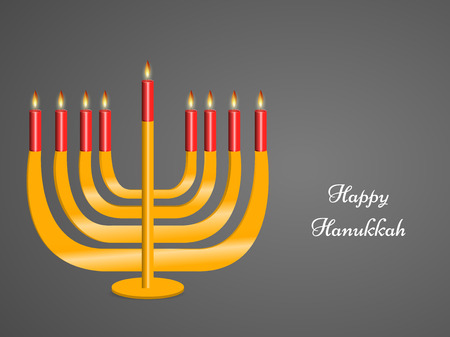 Hanukkah holiday greeting card design. Illustration
