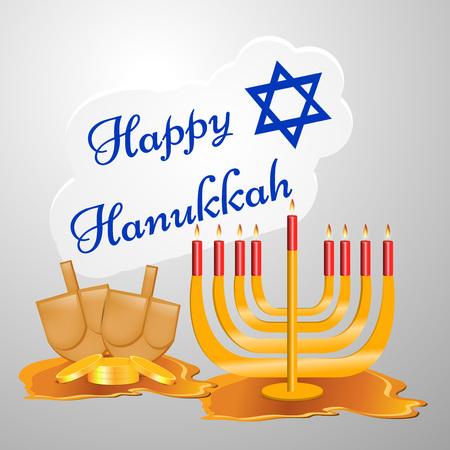 chanukkah: Hanukkah holiday greeting card design. Illustration