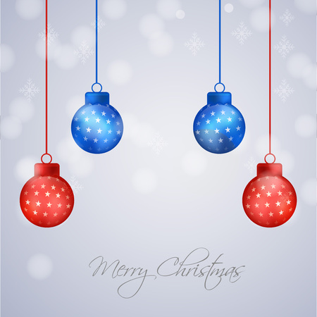 Christmas holiday greeting card design template.