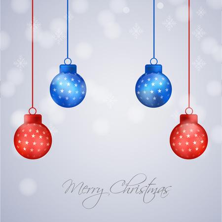 Christmas holiday greeting card design template.