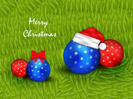 Illustration of elements of Christmas banner design.