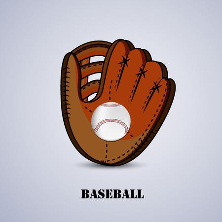 Illustration des éléments pour le fond de sport de baseball
