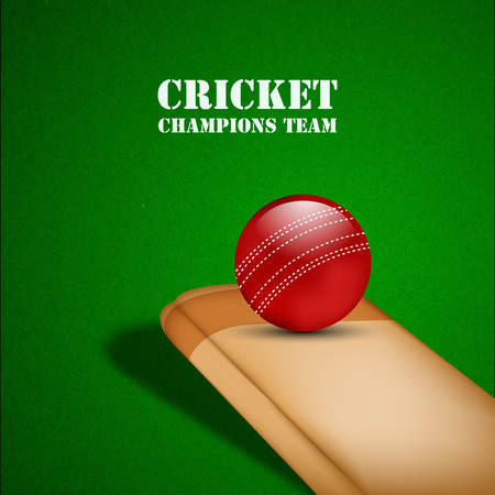 Illustration of Cricket elements for Cricket Illustration
