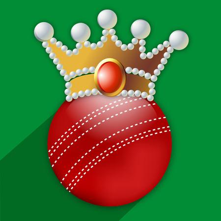 Illustration of Cricket elements for Cricket Illustration