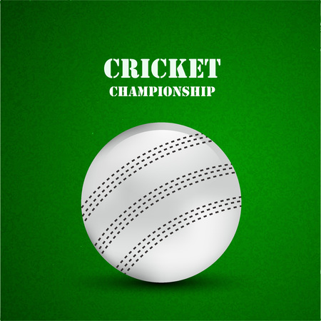 Illustration of Cricket elements for Cricket Stock Illustratie