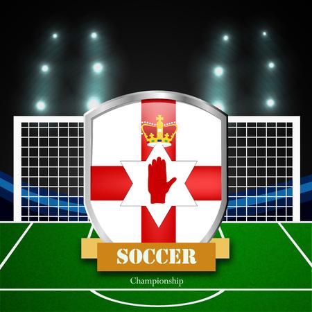 Illustration of northern ireland flag participating in soccer tournament Illustration