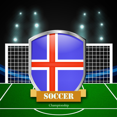 Illustration of Iceland participating in soccer tournament Illustration