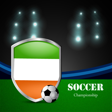 Illustration of Ireland participating in soccer tournament