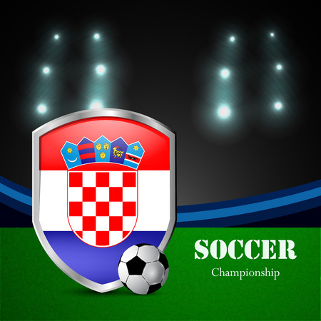 Illustration of Croatia participating in soccer tournament