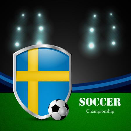 Illustration o Sweden participating in soccer tournament