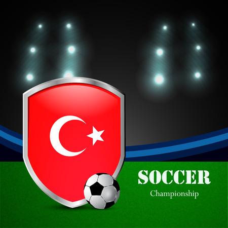 Illustration of Turkey participating in soccer tournament Illustration