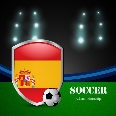 Illustration of Spain participating in soccer tournament