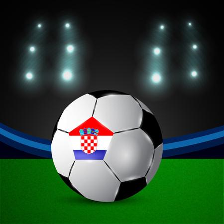 Illustration of Croatia participating in soccer tournament