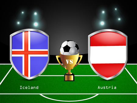 austria flag: Illustration of different countries flag participating in soccer tournament Illustration