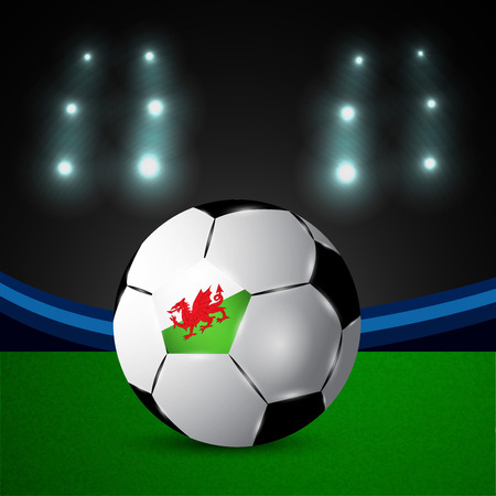 Illustration of Wales flag participating in soccer tournament Illustration