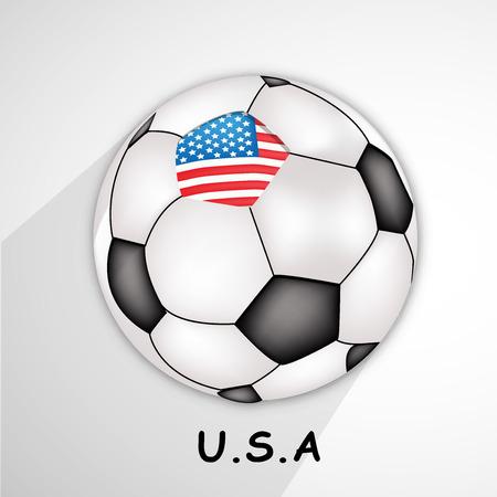 Illustration of U.S.A flag on soccer background Illustration