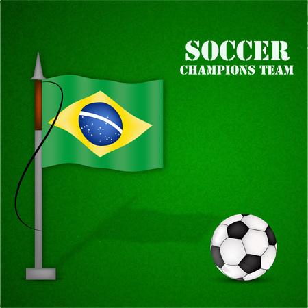Illustration of Brazil flag for soccer background