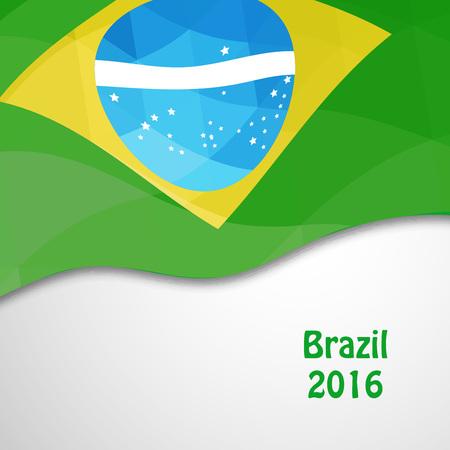 Illustration of brazil flag  for games