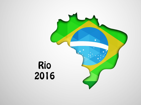 Illustration of brazil flag with map for games Illustration