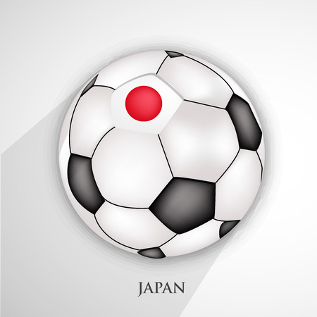 Illustration of Japan flag on football Illustration