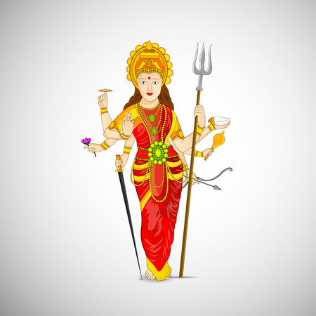 shree: Illustrations of elements for the festival of Navratra