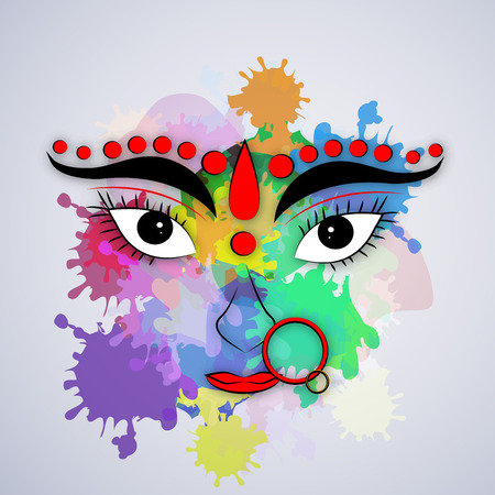 Illustrations of elements for the festival of Navratra
