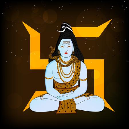mantra: illustration of Hindu Festival Shivratri Background