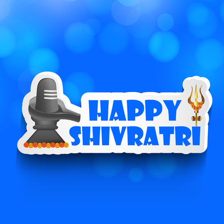 illustration of hindu festival Shivratri background