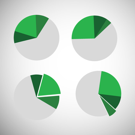 Illustration of background with business graphs and pie charts Illustration