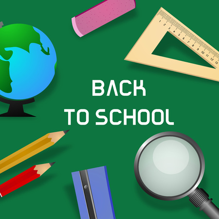 Illustration of background for back to school