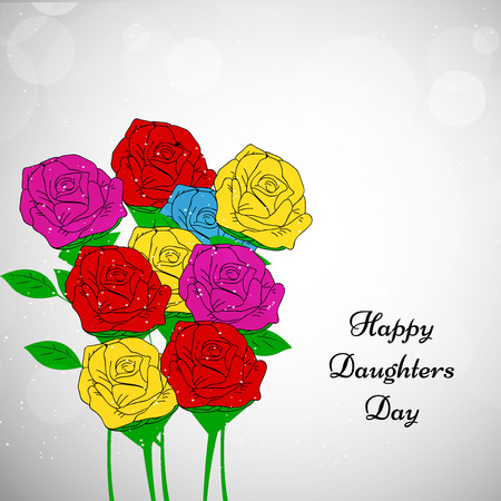 Illustration of flowers for Grandparents Day