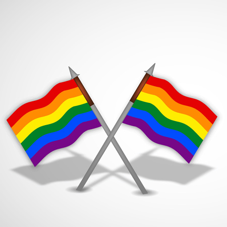 Illustration of background for LGBT with rainbow color flag
