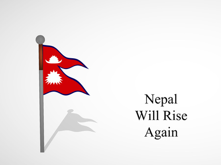 Illustration of  background for Nepal Earthquake releif
