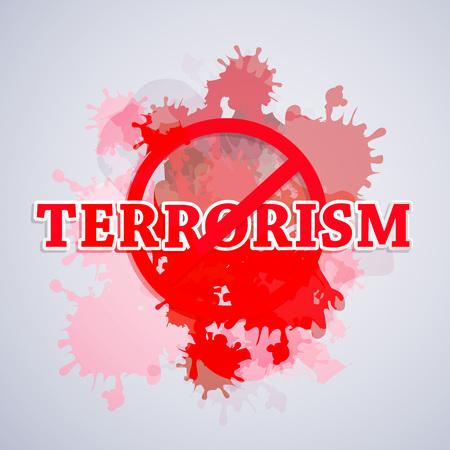 Stop Terrorism background